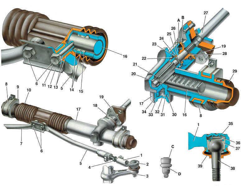 1 – наконечник рулевой тяги;